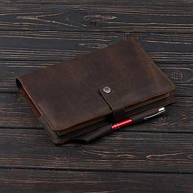 Обложка на блокнот 3.0 Fisher Gifts BUSINESS олива (кожа)