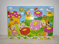 Деревянная игрушка Рамка Пазлы арт 0643  на  25 дет, 29,5-21,5 см