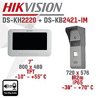 Комплект домофон (DS-KH2220) + панель (DS-KB2421-IM)
