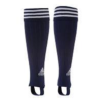 Футбольные гетры Adidas без носка темно-синие.