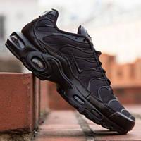 Мужские кроссовки Nike Air Max TN Plus 1 Black 1в1 Как Оригинал! ТН + Черные ТОП (ААА+)