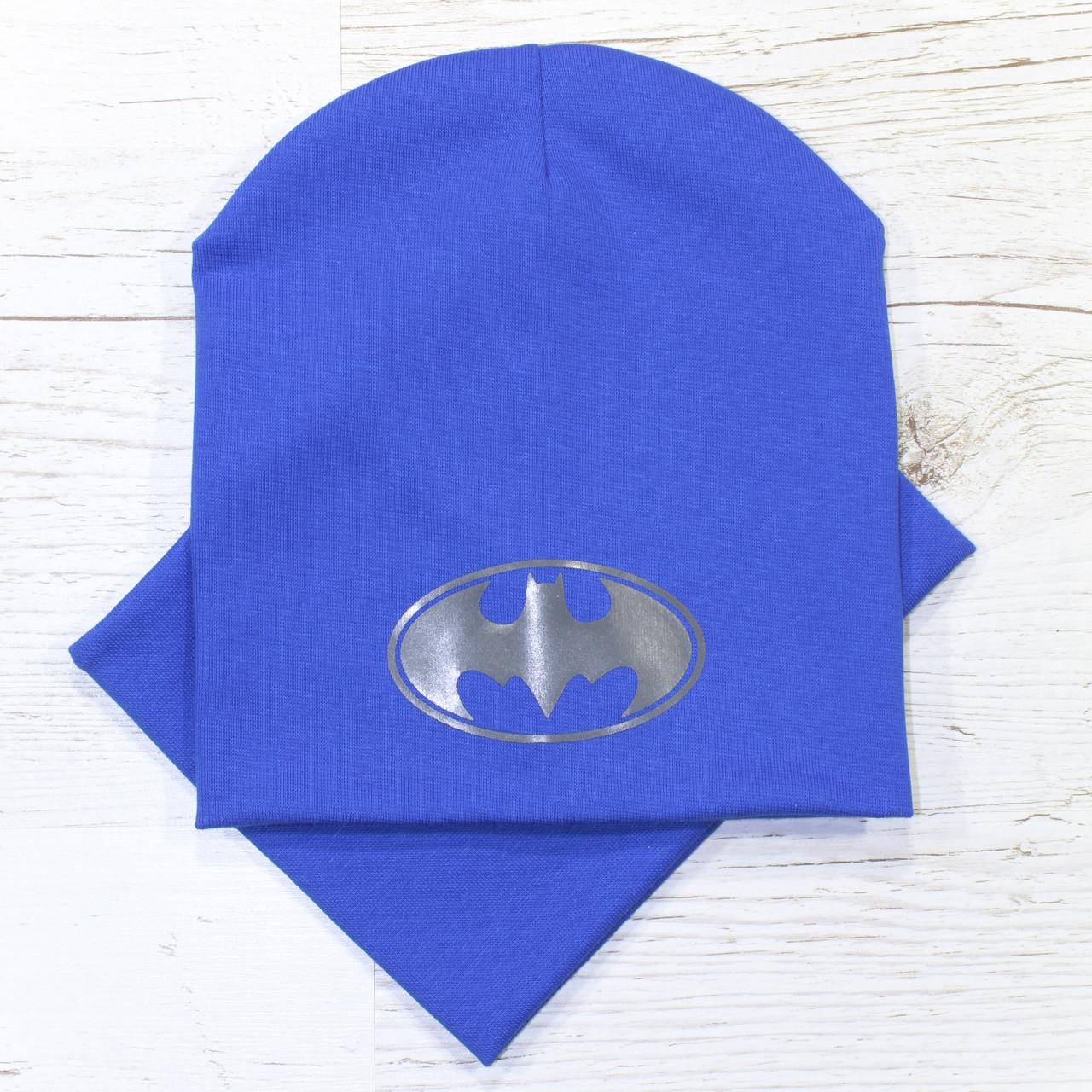 Для мальчика Batman Комплект шапка + баф электрик 48-52р.