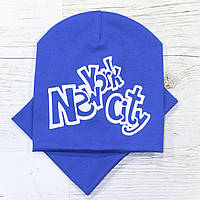 Для мальчика New York City Комплект шапка и хомут электрик 48-52р.