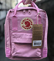 Рюкзак Fjallraven Kanken Mini 7L \ Канкен Мини 7л Розовый Pink (городской) Top replic