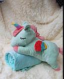 Детский плед игрушка Единорог, фото 3