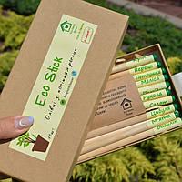 Оригинальный набор с цветными РАСТУЩИМИ КАРАНДАШИ в крафтовой упаковке из 12шт. Растущие карандаши.Эко подарок