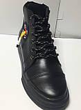 Ботинки женские демисезонные из натуральной кожи на низком ходу от производителя модель РБ106, фото 2