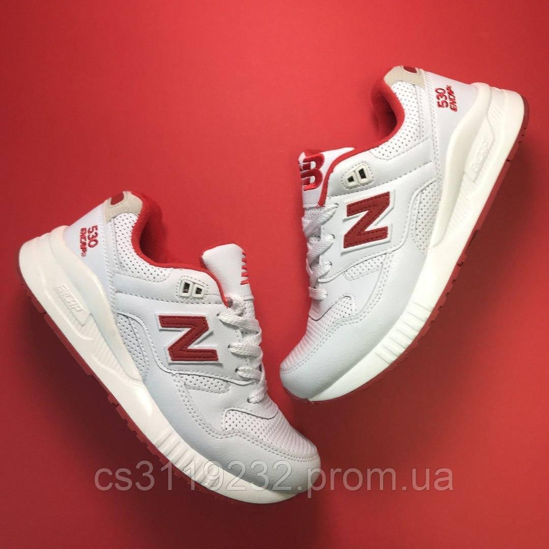 Женские кроссовки New Balance 530 Encap White Red (бело-красные)