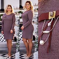 """Модное красивое платье большого размера """"Жасмин"""" 48-50, 52-54"""
