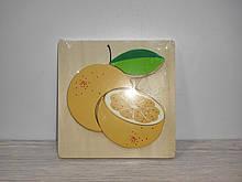 Деревянная игрушка Рамка Пазлы  1271  фрукты/транспорт, 6 видов, в кульке, 14,5-14,5-1,5 см