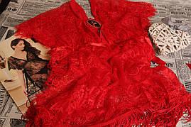 1256 Пеньюар кружевной красный