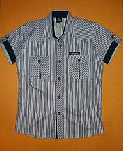 Сорочка для хлопчика бузкова на ріст 134-140 див. Туреччина