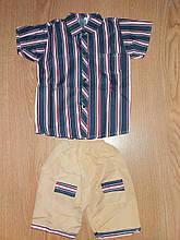 Костюм для хлопчика сорочка і шорти на ріст 116-122 див.