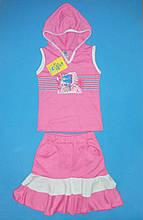 Річний комплект костюм для дівчинки майка і спідниця на ріст 86-92 див.