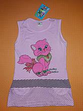 Летнее платье для девочки розовое на рост 122 см.