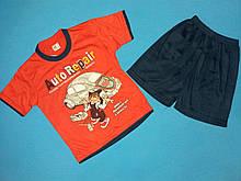 Костюм футболка і шорти для хлопчика на ріст 80-86 див.