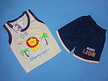 Костюм для хлопчика майка і шорти на ріст 92-98 див.