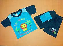 Костюм для хлопчика футболка і шорти на ріст 80-86 див.