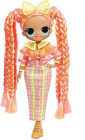 Неоновая кукла ЛОЛ ОМГ Светящаяся Даззл Блестящая королева L.O.L Surprise! O.M.G. Lights Dazzle Fashion 565185