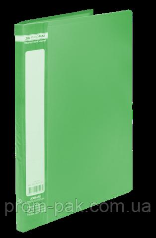 Папка с 10 файлами А4,JOBMAX,зеленый