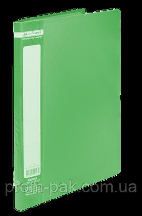 Папка с 10 файлами А4,JOBMAX,зеленый, фото 2