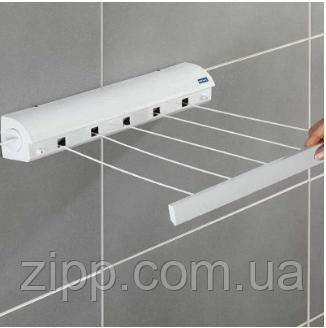 Автоматична витяжна настінна вішалка для сушки одягу, мотузка для білизни Dogus (4 шнура по 3,2 метра)