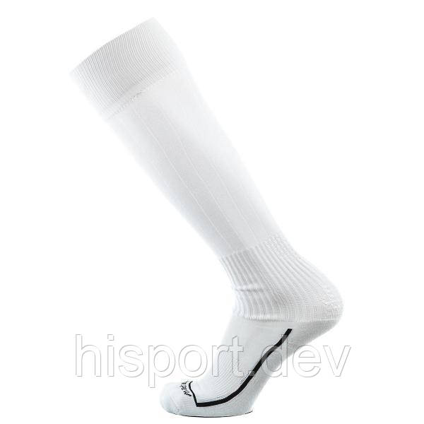 Футбольные гетры белые однотонные с трикотажным носком Европав