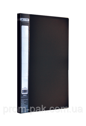 Папка пластикова А4 JOBMAX зі швидкозшивачем, чорний
