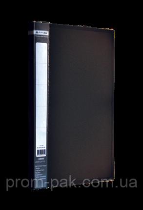 Папка пластикова А4 JOBMAX зі швидкозшивачем, чорний, фото 2