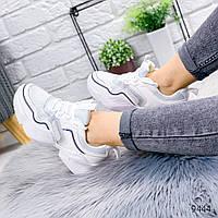 Кроссовки женские Beryl белые + голографик