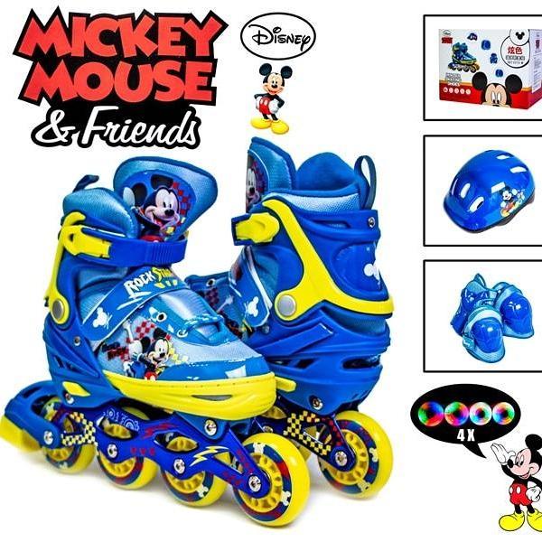 Комплект роликов Disney. Mickey Mouse. р.29-33. Все колеса светятся!