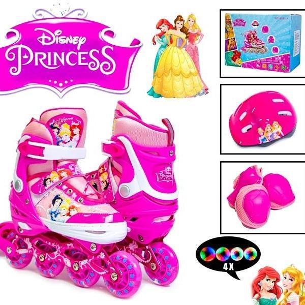 Комплект роликов Disney. Princess. р.34-37. Все колеса светятся!
