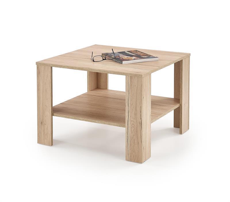 Журнальний стіл KWADRO дуб сан-ремо (70х70х53) Halmar