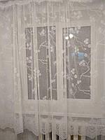 Тюль готовая пошитая с тесьмой белая 190х300, фото 1