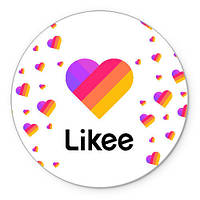 Likee  LIKE  Вафельная картинка на торт круглая лайк
