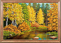 Схема для вышивки бисером Осенняя река КС-022