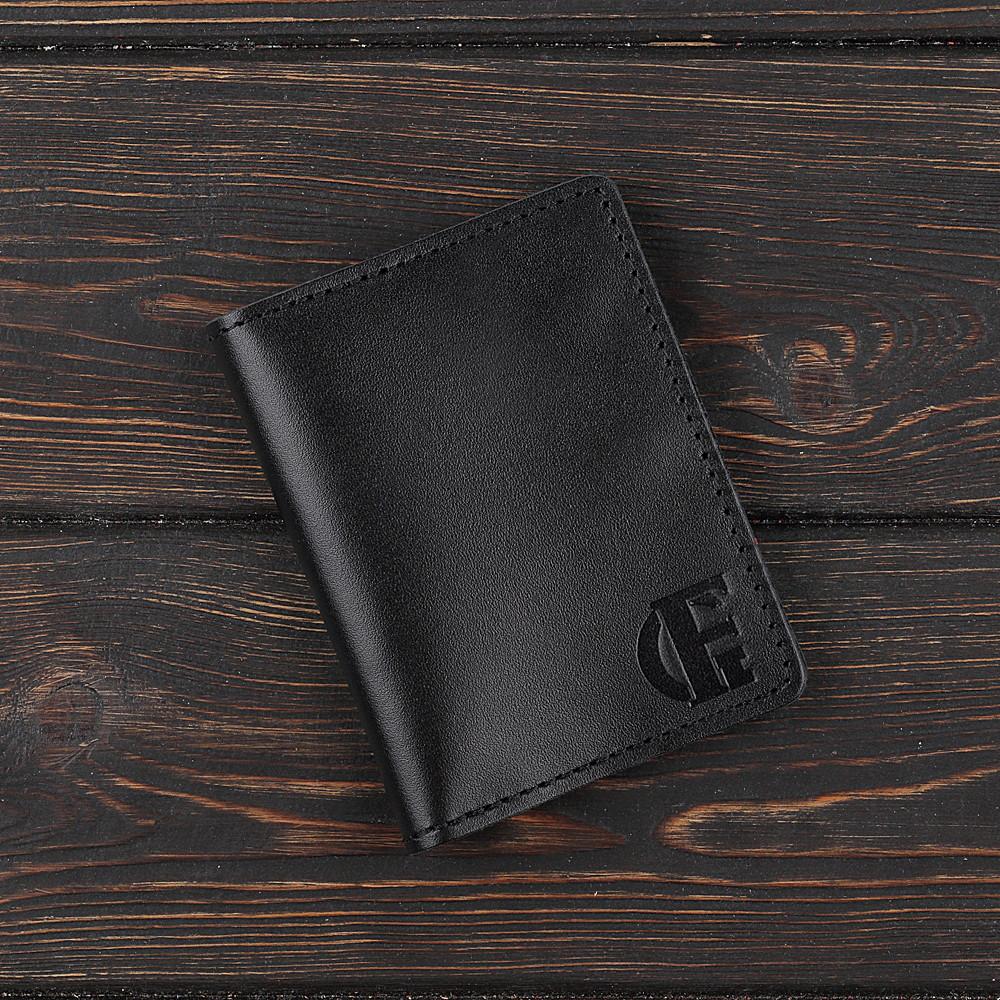 Картхолдер v.2.0. Fisher Gifts STANDART черный (кожа)