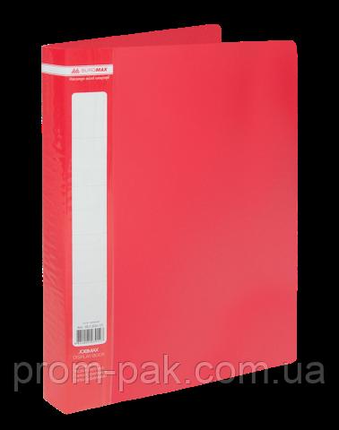 Папка з 60 файлами А4,JOBMAX,червоний