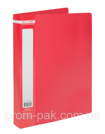Папка з 60 файлами А4,JOBMAX,червоний, фото 2