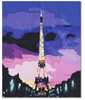 "Картина по номерам G080 ""Париж"" 40х50см, (холст с рамкой, акриловые краски, кисть-2шт)"