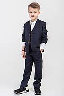 Детский школьный костюм  темно-серого цвета 140