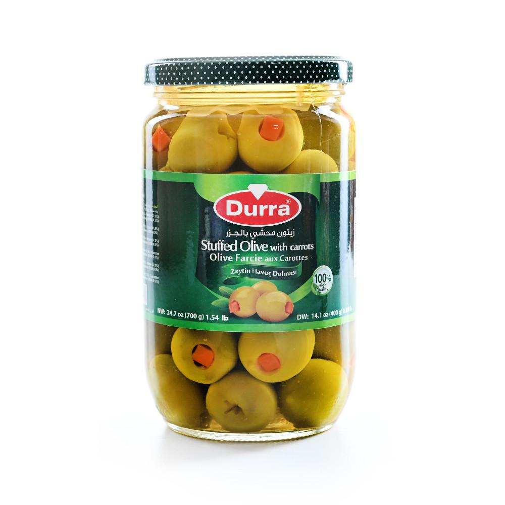 Оливки фаршированные морковью Durra 700 грамм
