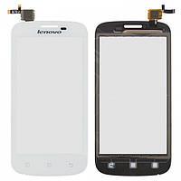 Сенсорный экран (touchscreen) для Lenovo A760, оригинальный (белый)