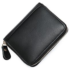 Чоловічий шкіряний гаманець-візитниця - Чорний