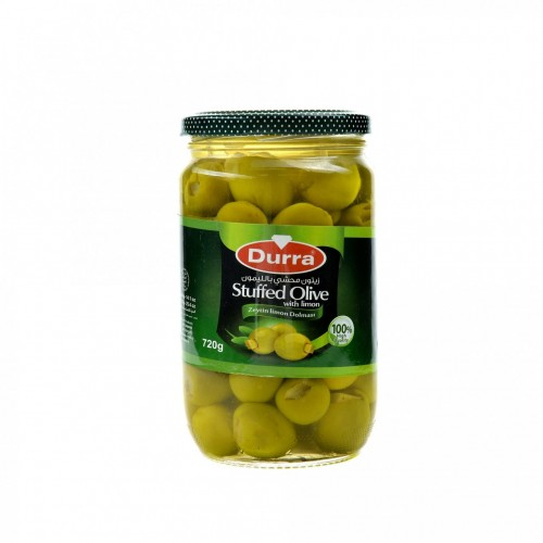 Оливки фаршированные лимоном Durra 700 грамм