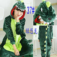 Кигуруми взрослый зеленый Дракон 324-37