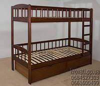 Кровать деревянная двухъярусная из массива «Олеся»