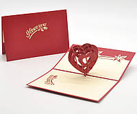 3D открытка I LOVE YOU Сердце