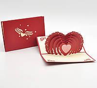 "3D открытка ""Сердце"""