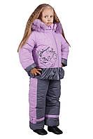 Детский зимний комбинезон для девочек Кошечка